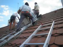 instalace vnější jednotky na střechu
